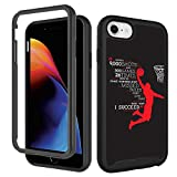 GUGU6JI iPhone SE 2020 Case,iPhone 6 6s, iPhone 8 Case, iPhone 7 Case Basketball Black for Boy Men Designer Shockproof Rugged Dual Layer Bumper Full-Body Protective Cover 4.7inch, Dunk Basketball