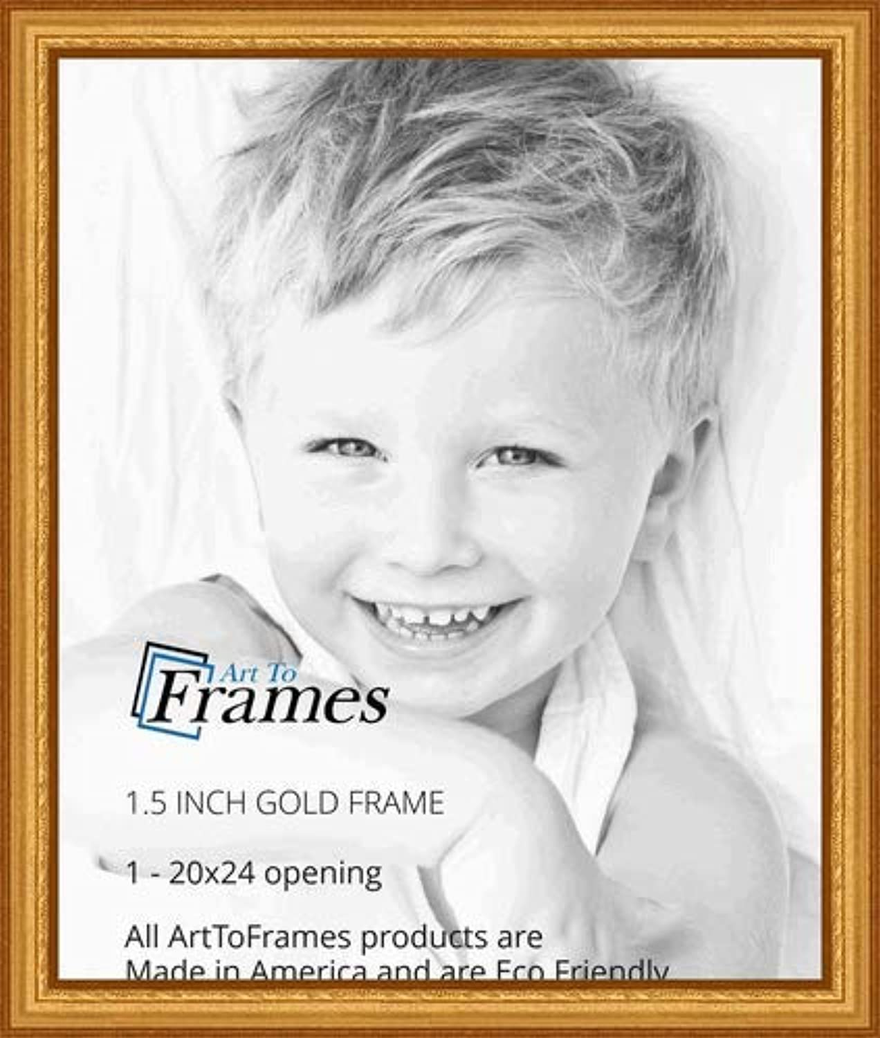 ArtToFrames 20x24 inch gold Speckeled Wood Picture Frame, WOMTI-795-20x24