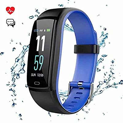 Mgaolo Fitness Tracker,Smart Watch Activity Tracker Sports Band Bracelet Waterproof Bluetooth Wristband with Heart Rate Monitor Pedometer Sleep Monitor Calorie Step Counter Blood Pressure (Blue)