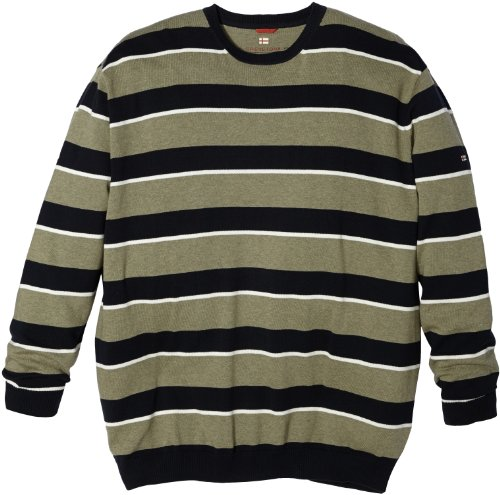 Greystone Sweatshirt 5XL Übergröße Grün-Weiß gestreift