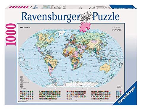 Ravensburger Puzzle 15652 - Politische Weltkarte - 1000 Teile