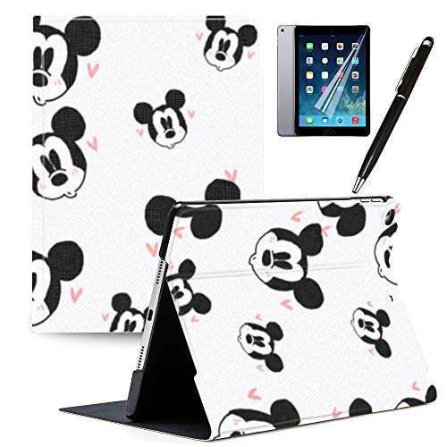 iPad 9.7 inch Case 2018 iPad 6th Generation Case 2017 iPad 5th Generation Mickey and Minnie Cartoon Case PU Leather Stand Protection Smart Auto Sleep/Wake Cover for Pad Air 2 / iPad Air 1#M
