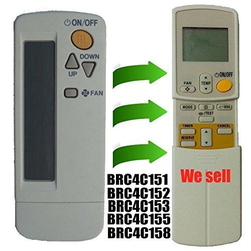 Vervangende Daikin Venster Muur Gemonteerd Draagbare Air Conditioner Afstandsbediening Compatibel voor Afstandsbediening Model Nummer Brc4c151 Brc4c152 Brc4c153 Brc4c155 Brc4c158