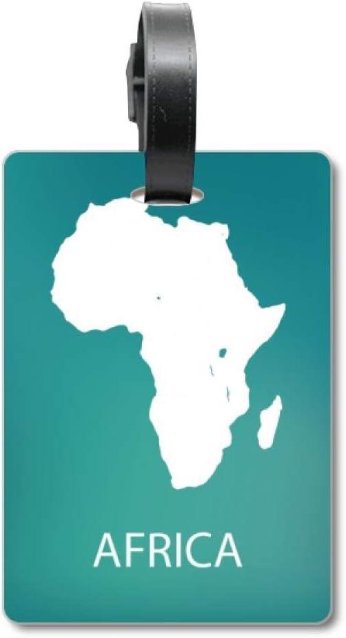 Etiqueta de identificación para Maleta de Mapa de la Silueta de África Continental, Etiqueta de identificación de turista