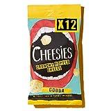 Cheesies - Snack de Queso Crujiente, Gouda - Sin Carbohidratos - Alto en Proteínas, Sin Gluten, Vegetariano, Ceto - 12 Bolsas de 20g