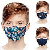 ALB Stoffe® Shield Pro Kids TORA, Mund-Nasen-Masken für Kinder, 100% Made in Germany, Ökotex, Mundschutz waschbar, doppellagig, 3er Pack