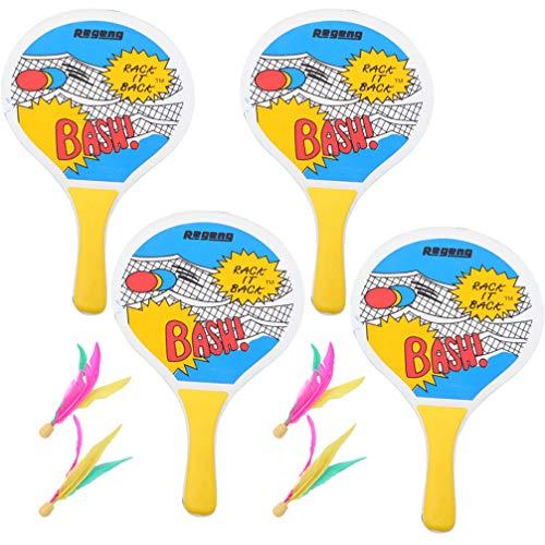 Conjunto de raquetes de badminton, raquete de badminton, raquete de bola, raquete de badminton da Wakauto para festas infantis