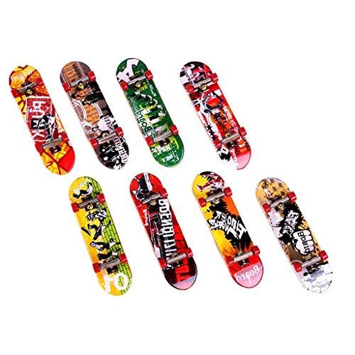 Ogquaton Mini-Skateboard-Modell Zufälliges Modell 1 PackKreatives Mini-Skateboard-Spielzeug Lustiger Finger-Skateboa Langlebig und nützlich