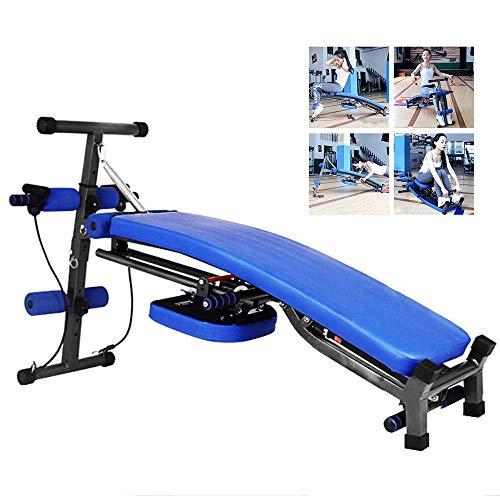 OTENGD Verstellbare Ab Bank, Rückenverlängerung Abdominal Sit Up Bank Hantelbank mit Flat/Decline/Sit Up, für Bauchmuskeln Sit-Ups Fitness