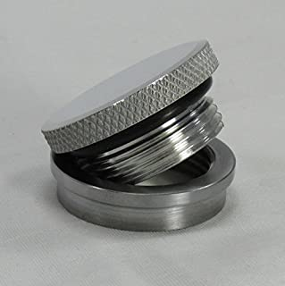 VENTED or NON-VENTED Motorcycle Polished Aluminum Gas/Fuel Tank Cap - ALUMINUM Stepped Bung FOR ALUMINUM TANKS ONLY - Harley Chopper Bobber Cafe Racer