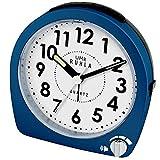 Ruhla QW 859-3SP - Reloj despertador analógico de cuarzo con control de volumen