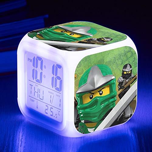 shiyueNB Película de Dibujos Animados niños Reloj Despertador Juguete Regalo Reloj Despertador Digital luz y Sombra Reloj de Mesa Led Despertador 60