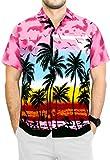 LA LEELA   Funky Camisa Hawaiana   Señores   XS-7XL   Manga Corta   Bolsillo Delantero  ...