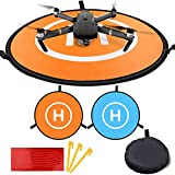 Drones Landing Pad 75cm/30inch Foldable Aircraft LaunchPad Waterproof Portable Helipad for RC Drones Helicopter, PVB Drones, DJI FPV Mavic Pro Phantom 2/3/4 Pro, Antel Robotic, 3DR Solo.