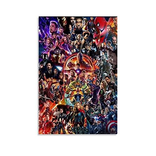 Marvel Avengers Leinwand-Kunst-Poster und Wandkunstdruck, modernes Familienschlafzimmer, 60 x 90 cm