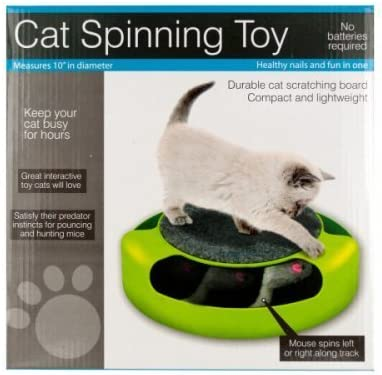 Cat Scratch Limited time trial price Seattle Mall Pad Spinning Toy Mouse-Package 3 Quantity with