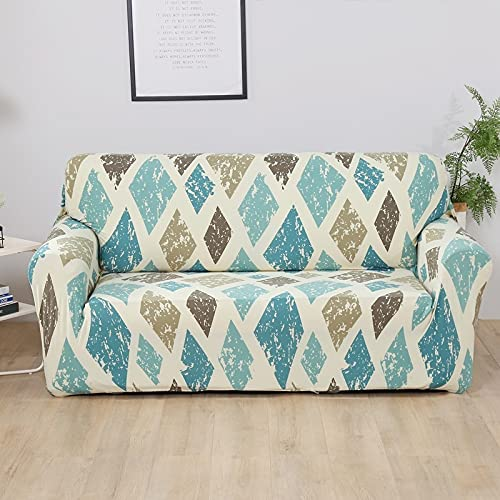 WXQY Sala de Estar Funda de sofá elástica con patrón geométrico Toalla de sofá combinación Antideslizante Funda de sofá Funda de sofá A16 2 plazas