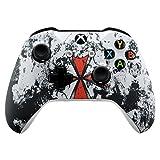 eXtremeRate Carcasa para Xbox One Funda Delantera Carcasa Frontal Kit de reemplazo Tacto Suave Placa Frontal para Mando Controlador de Xbox One X Xbox One S-Modelo 1708(Resident Evil)