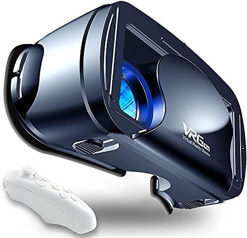 Gafas VR,Compatible con Phone y Android Phone,VR Gafas de Realidad Virtual - Disfruta de los Mejores Juegos y Videos RV 3D, 2K Gafas VR , de Máxima Calidad y con la Mayor Comodidad