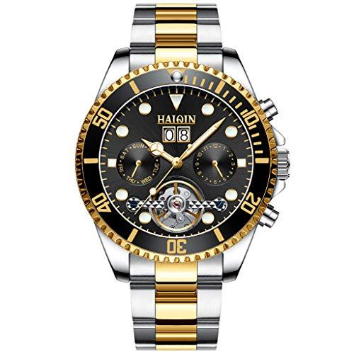 Pagani Design Herren-Armbanduhr, automatisch, wasserdicht, Edelstahl, mit Saphir, automatisches Datum, Analog-Anzeige