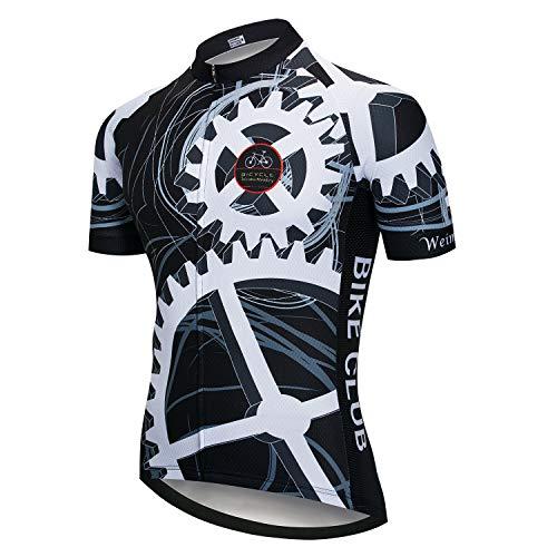 Weimostar - Maillot de ciclismo para hombre, manga corta, reflectante, de verano, Hombre, A2., Chest33'-35.4'=Tag S