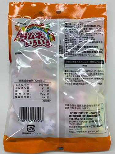 春日井製菓ラムネいろいろ87g×12袋