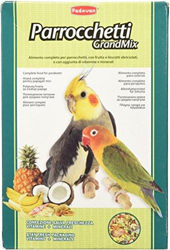 Padovan - Alimento completo per parrocchetti con frutta, vitamine e biscotti sbriciolati - 850 gr