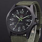 Hffan Stilvolle Herren Uhren Minimalistische Ultra Slim Datum Großes Gesicht Armbanduhr mit Edelstahlband/Lerderband