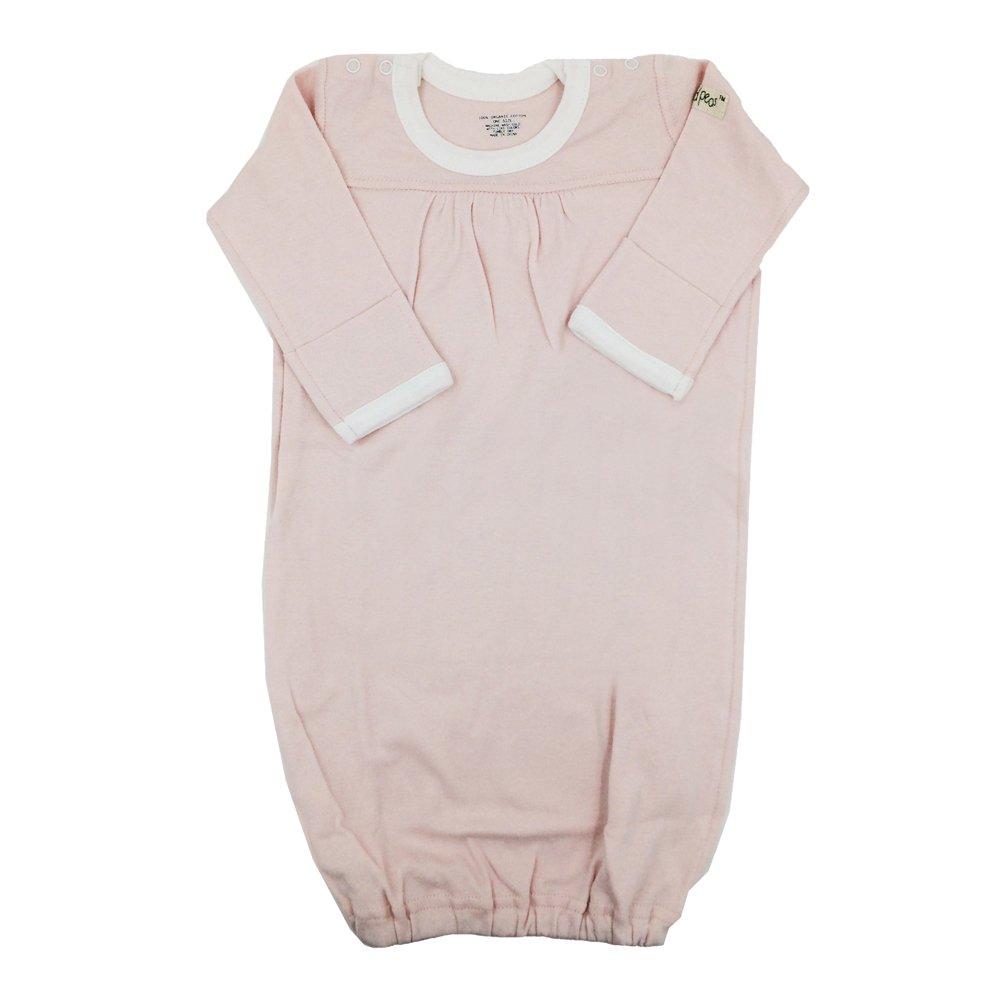 little world peas Organic Baby Sleep Gown (One Size, Light Pink)