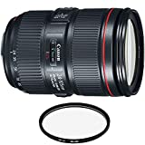 Canon EF 24-105mm f/4L is II USM Lens with Pro Filter (Renewed)