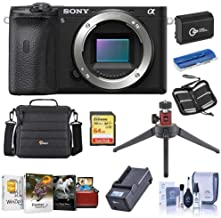 $1198 » Sony Alpha a6600 Mirrorless Camera Body - Bundle with Camera Case, 64GB SDXC U3 Memory Card, Spare Battery, Table Top Tripod, Compact Charger, Cleaning Kit, Memory Wallet, Card Reader, Mac Software