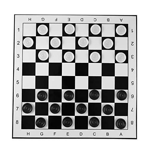 Celerhuak Internationales Schachspiel Große Kunststoffprüfer/Entwürfe Faltschachbrett Internationales Schachspiel Travel Brettspiel Wettbewerbsspielzeug