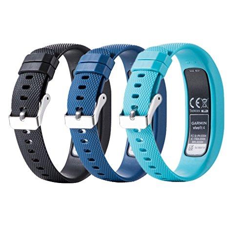 Meiruo Ersatz Zubehör Fitness Band für Garmin Vivofit 4, Armband für Garmin Vivofit 4 (L, Colour 2)