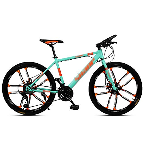 LWZ Mountain Bike 24 Speed Exercise Bikes 26 Inch Men's MTB Disc Brake High Carbon Steel Mountain Bicycle Multiple Colors
