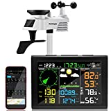 Sainlogic Professional WiFi Weather Station with Outdoor Sensor, Internet Wireless Weather Station with Rain Gauge, Weather Forecast, Wind Gauge, Wunderground