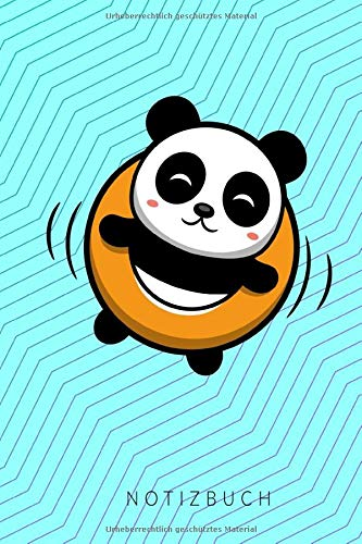 Notizbuch: mit Panda Pool Achtsamkeit Journal