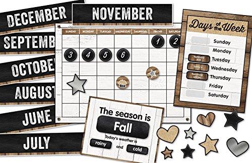 Schoolgirl Style - Industrial Chic | Calendar Bulletin Board Set
