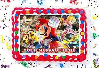 Mario Kart Cake Topper Edible Image Personalized Cupcakes Frosting Sugar Sheet (8