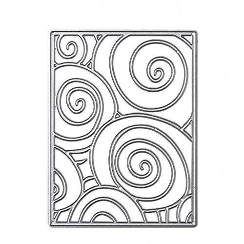 GJCrafts Metallschneidstempel, DIY-Künstler Metallschneidstempel Schablonen für Scrapbooking Prägepapierkarten Fotoalbum dekorative Bastelbedarf