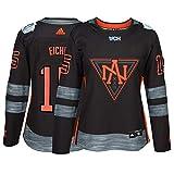 adidas Jack Eichel North America NHL Black 2016 World Cup of Hockey Premier Home Jersey for Women (M)
