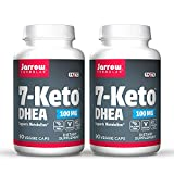Jarrow Formulas 7-Keto DHEA 100 mg - 90 Veggie Caps, Pack of 2 - Naturally-Occurring Metabolite - Supports Fatty Acid & Carbohydrate Metabolism - Up to 180 Total Servings