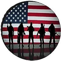 American Flag Veterans Day Soldier Military 車 タイヤ カバー防塵防水UV保護タイヤ保護カバータイヤ収納袋14-17inch