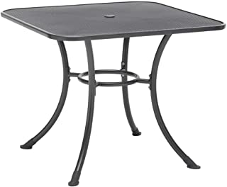 KETTLER Square Mesh Top Table in Gray (32 in. W x 32 in. D x 28 in. H)
