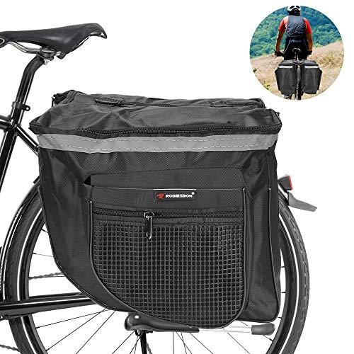 ASANMU Gepäcktaschen für Fahrrad, Fahrradtasche Gepäckträgertasche wasserdichte Doppeltasche Fahrrad Gepäckträger Fahrradtasche Multifunktional Tasche Satteltaschen für Mountainbikes Rennrad Gepäck