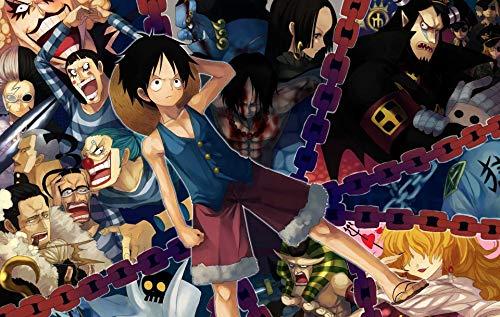 NFGHDD One Piece Anime Manga Filme Poster Puzzle 1000 Piezas Adultos, Puzzle 3d, Puzzles 1000 Piezas, Puzzles Madera Adultos, Rompecabezas Adultos, Puzzles para Adultos(75x50cm)