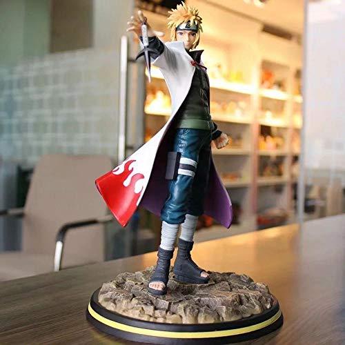 LIGHT LJ Naruto Stehhaltung Modell Namikaze Minato Charakter-Modell-Dekoration Statue Figur Animation 30cm