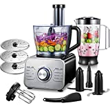 Robot Culinaire Multifonction, 1100W Robot Multifonction,...