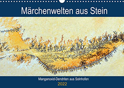 Mondi di pietra da favola - Dendriti di ossido di manganese di Solnhofen