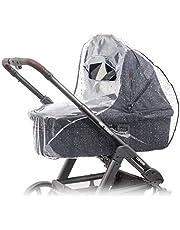 Zamboo Regenhoes / Regenscherm voor Kinderwagen / Wandelwagen met Reiswieg (passend op Joolz, Quinny, Bugaboo e.d.) met Optimale Ventilatie, Kijkvenster, Waterdicht en Duurzaam, PVC vrij