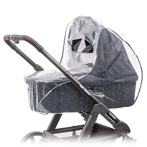 Zamboo - Protector de lluvia universal para cochecitos y capazos de bebé - Burbuja de lluvia con ve